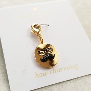 NWT Kate Spade How Charming Glasses Mustache Charm
